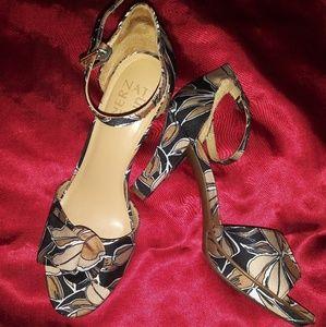 7.5 floral heels